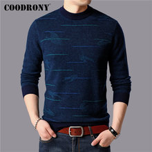 COODRONY Brand Sweater Men Winter Thick Warm Sweaters 100% Merino Wool Pullover Men Soft Cashmere Casual O-Neck Pull Homme 93043 coodrony brand pure merino wool sweater men autumn winter thick warm soft cashmere pullover men fashion o neck pull homme 93021
