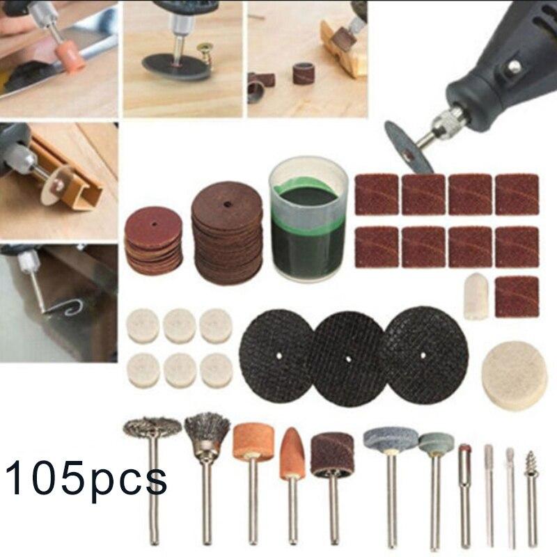 105 шт./компл. электрический сверлильный станок роторный инструмент шлифовальный гравировка полировки комплект