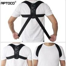 Aptoco מתכוונן חזור יציבת מתקן עצם הבריח עמוד השדרה חזרה כתף המותני Brace תמיכת חגורת תיקון יציבה