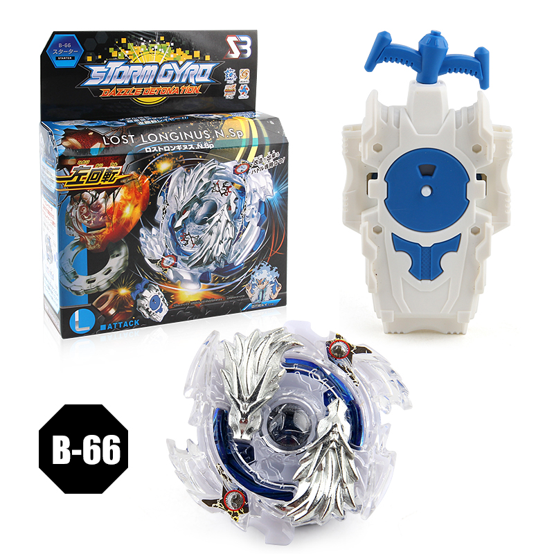 Burst Starter Speed 4D LOST LONGINUS.N.Sp B-66 Combat Spinning Top With Launcher Play Set For Kids Boy
