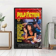 Pulp Fiction película clásica Quentin Tarantino Vintage arte pintura lienzo divertido cartel pared decoración para el hogar