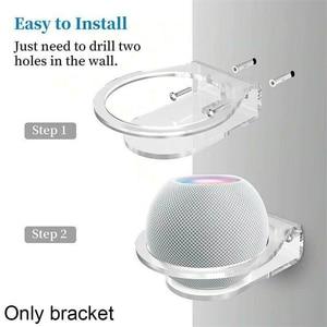 Image 2 - Universal  Speaker Holder Wall Mount Hanger Bracket Space Saving Stand Cable Management For Apple HomePod Mini