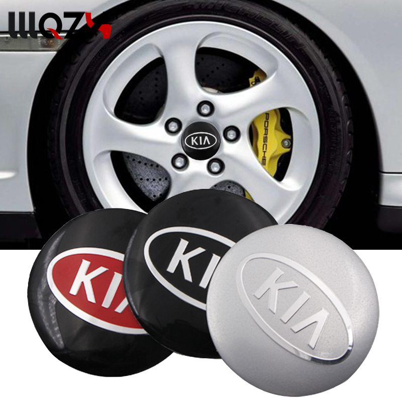 Car-styling Decorative Car Wheel Center Hub Caps Badge Sticker For KIA K2 K3 K5 K9 Sorento Sportage R Rio Ceed Auto Accessories