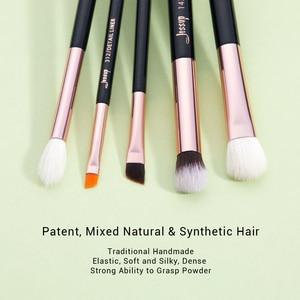 Image 2 - Jessup gül altın/siyah fırça makyaj fırçası göz farı makyaj fırçalar göz astar Shader doğal sentetik saç