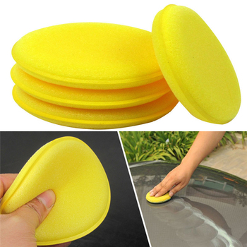 12 sztuk samochodów akcesoria samochodowe narzędzia do mycia woskowanie gąbki tarcie żółta gąbka polerowanie okrągły w kształcie gąbki narzędzia do czyszczenia samochodu tanie i dobre opinie JOSHNESE circular 10 * 1 6cm Sponge