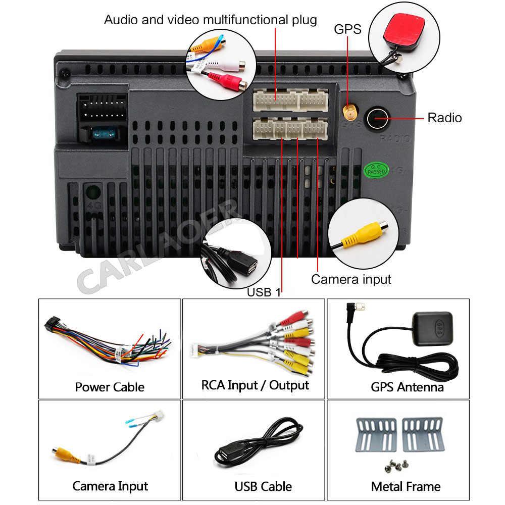"""7 """"Wifi Bluetooth de Audio USB Universal Multimedia reproductor de coche no MP5 Auto Radio 2 Din Android navegación GPS del coche radio Estéreo de coche"""
