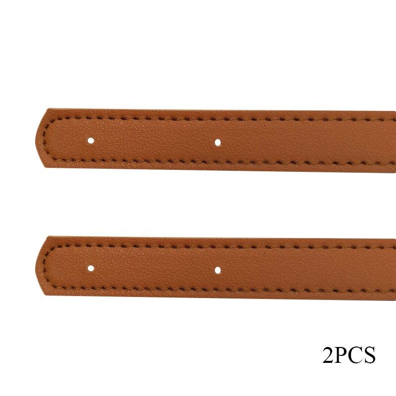 2pcs/pair 60cm Bag Strap Handle Belt Band For Women PU Leather Shoulder Bag Strap Handbag DIY Replacement Accessories For Bag
