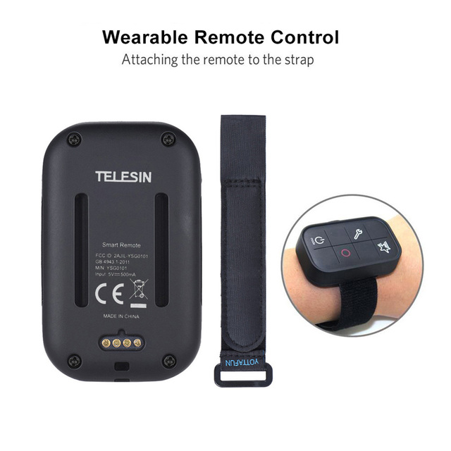 TELESIN Smart Wireless Wi-Fi Remote Control Water-resistant for GoPro Hero 7/6/5/4/3+/3/ 4 Session Sports Action Camera 4