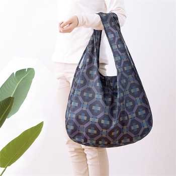 PURDORED 1 Pc Flower Shopping Bag Fordable Women Shopping Tote Bag Portable Waterproof Reusable Cloth Eco Grocery Bag Handbags 1