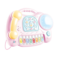 Children Musical Instrument Toy Multi-function Phone Drum Puzzle Early Education Baby Simulation Music Educational Toys