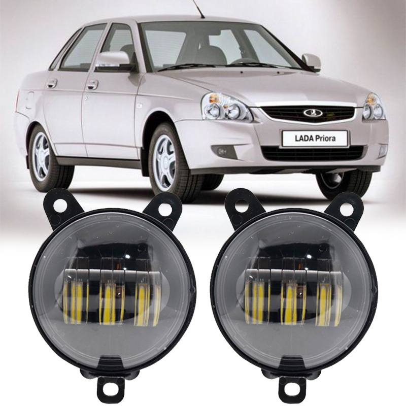 3.5 Inch Waterproof 30W 6000K Round Led Fog Light Fog Passing Lights For Lada Priora And Some Russia Cars Front Fog Lamp