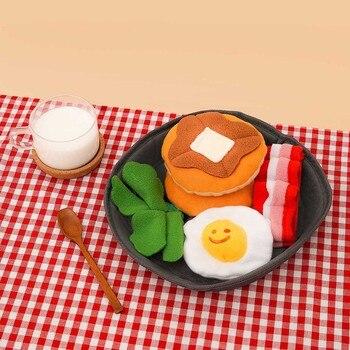 Juguete para masticar con forma de hamburguesa y tocino para mascotas, juguete...