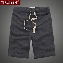 YIRUISEN מותג 100% כותנה מוצק קיץ מזדמן קצר מכנסיים לגברים Boardshorts ברמודה Masculina Korte Broek Mannen