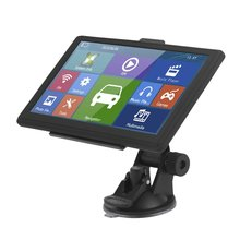 Truck Car GPS Navigation FM 7 Inch Display HD Capacitive Screen Support Multilanguage Free Maps Updates 715 7 inch truck car gps navigation navigator win ce 6 0 touch screen e book video audio game player with free maps 706