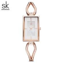 Shengke Women Watches Dress Watch Skeleton Bracelet Diamond Dial Watch Ladies Rhinestone Watches For Women Relogio Feminio 2020