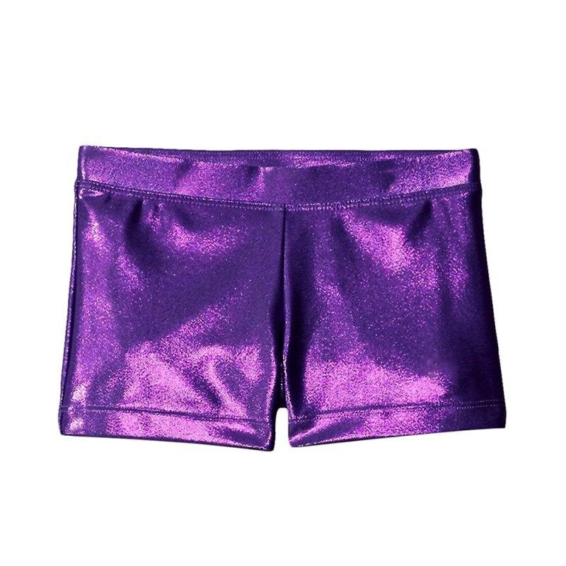 Гимнастикой для девочек костюм Шорты высококачественный яркий цвет корпуса балета, для занятий гимнастикой, практические занятия танцами одежда Шорты - Цвет: purple