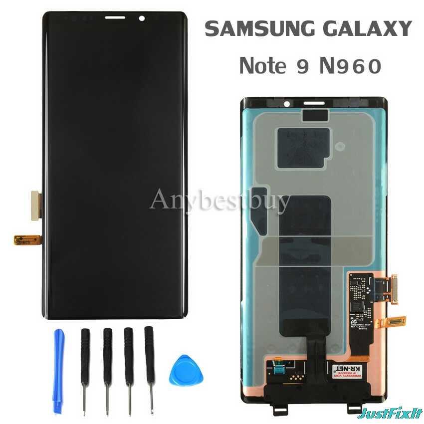 "Para samsung galaxy note 9 n960 n960f n960d n960ds defeito display lcd tela de toque digitador assembléia 6.4 ""note9 original"