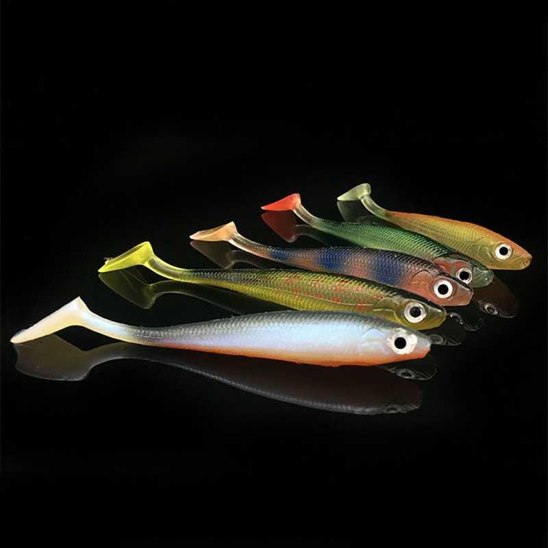 5 Cái/lốc Mềm Wobblers Mồi Dụ Cá Silicone Đôi Swimbaits Cau Nhân Tạo Cá Chép Mồi Câu Cá Phụ Kiện Câu Cá