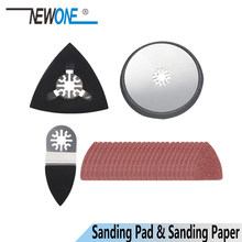 Newone dedo lixa almofada triângulo lixa almofada redonda com papel de lixamento para oscilação ferramenta renovador multimaster