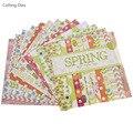 Neue Ankunft 12 Blätter/lot Rose Blume Scrapbooking Papier Kunst Hintergrund Papier Karte, Die DIY Sammelalbum Papier Handwerk