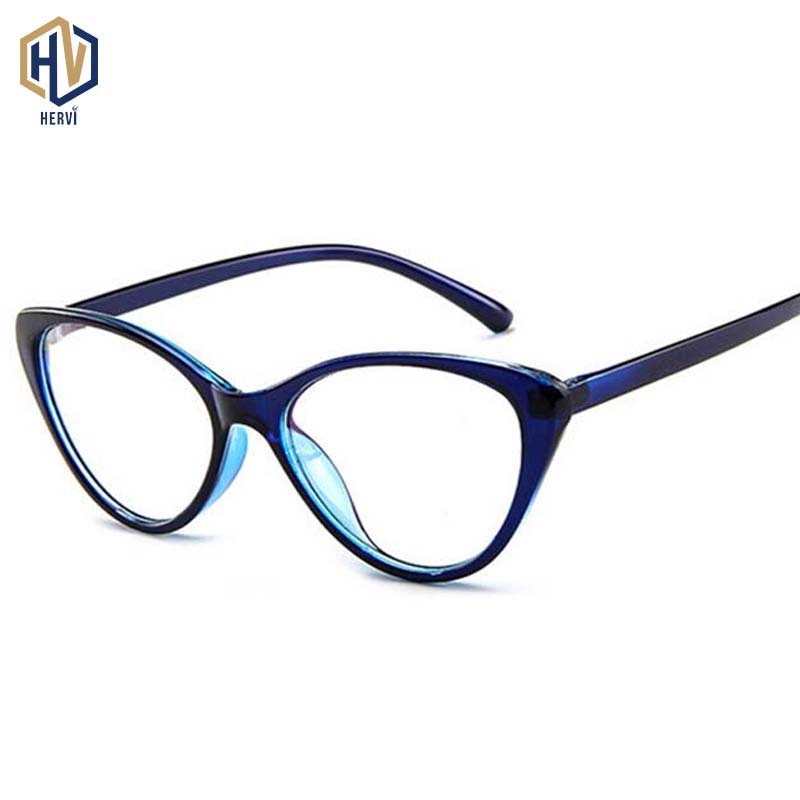 Women Cat Eye Spectacle Eyeglasses Frame Men Clear Lens Optical Plain Glasse Frame Computer Glasses Myopic Glasses Unisex