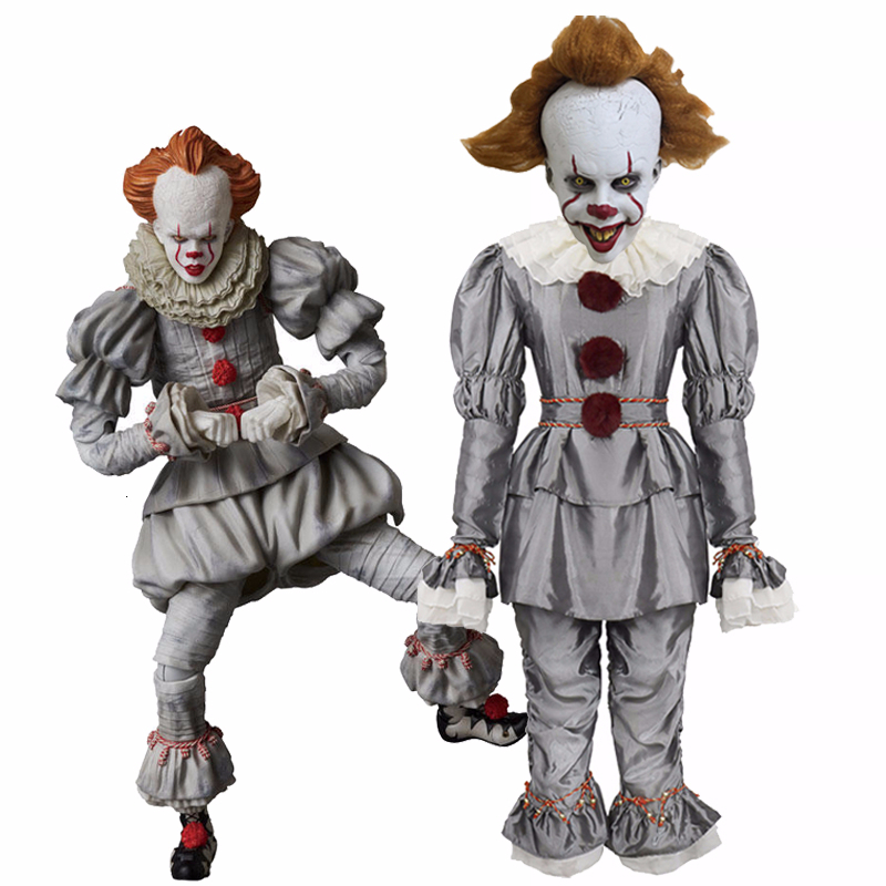 Scary Joker Pennywise Cosplay Costume Stephen King's It Chapter Two 2 Horror Clown Mask Adult Fancy Halloween Party Costume