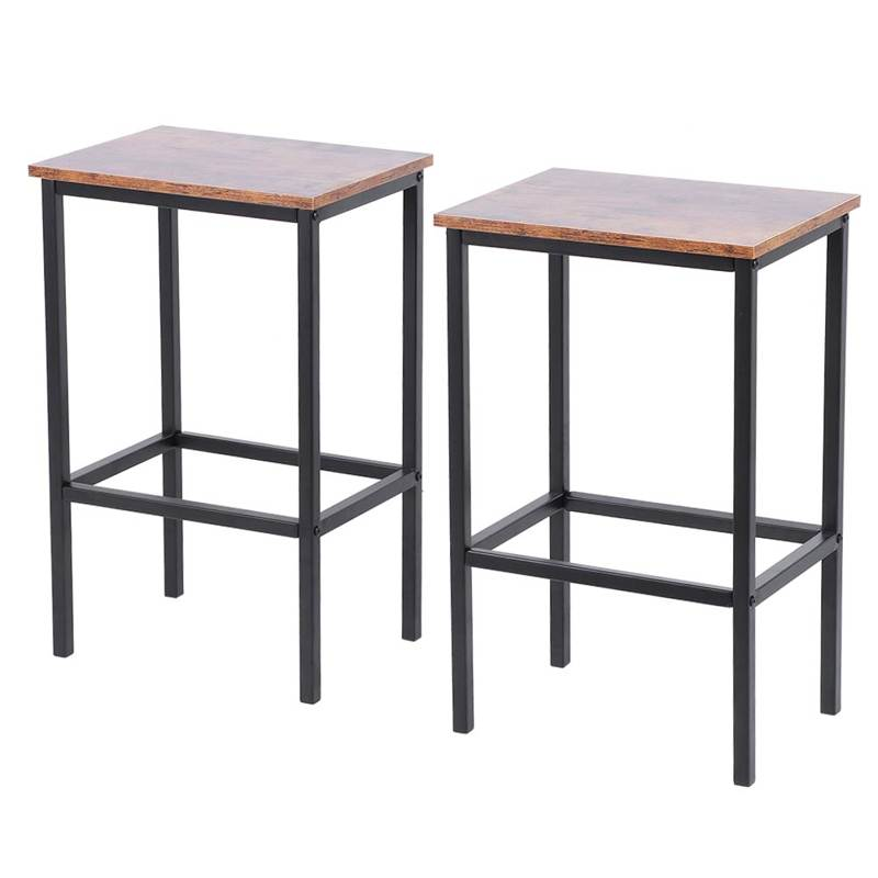 2Pcs Bar Stool Retro Industrial Style Bar Stool Bar Chair for Living Room Party Room Bar Furniture Kitchen Supplies Bar Stool