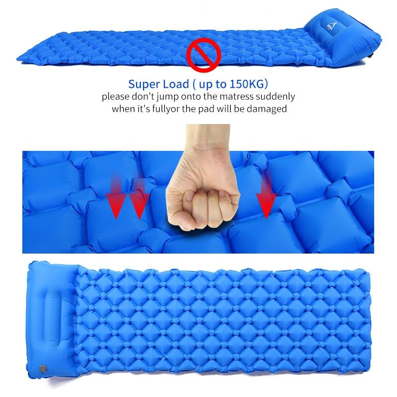 Large coussin de couchage gonflable, matelas à air pneumatique, couchette d'extérieur, mobilier ultraléger de randonnée 4