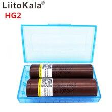 2 pces liitokala original hg2 2800mah 3000mah 3.7 v para 18650 bateria 25a recarregável alta dreno bateria ou ou caixa mod