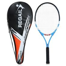 Карбоновая теннисная ракетка для тренировок в помещении и на улице Теннисная ракетка с чехлом