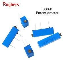 Trimmer Potentiometer 50K 20K 200k-500k 10K 500R 10pcs 100R 1M 200R 3006P-1-105LF 202LF
