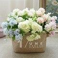 Европейские маленькие весенние Искусственные цветы Гортензия декоративные цветы украшение для дома искусственные украшения свадебные цв...