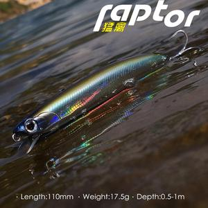 Image 5 - 2020 New Mobile lip Raptor Glide Minnow Bait Hound 110mm 17.5g/18.5g Full Weight Shift System crank wobbler Fishing Lures