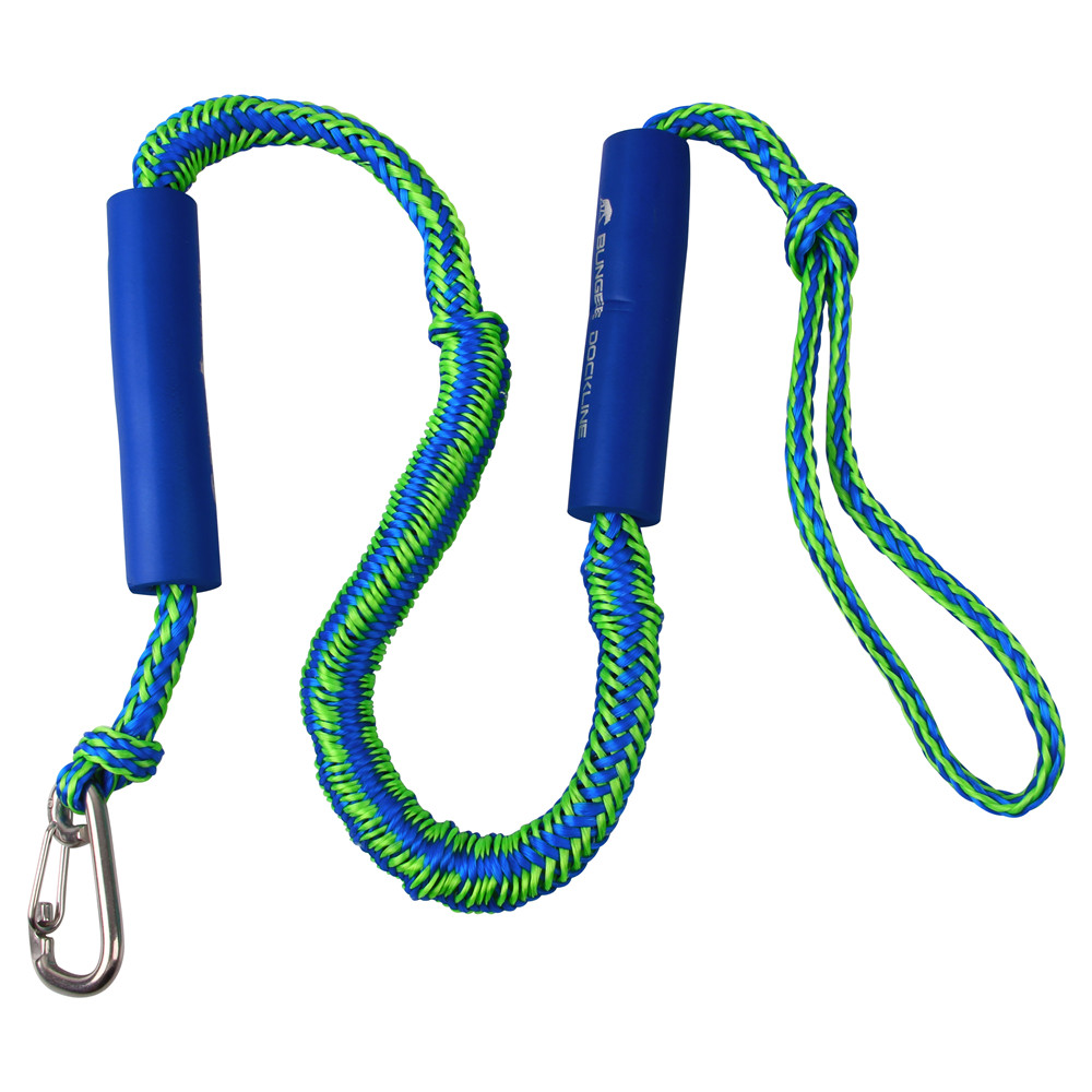 Top Bungee Dock Ropes Stretchable Dock Line For Kayak, Jet Ski, Marine With Foam Float Stainless Steel Clip For Boat 4ft 5ft 6ft