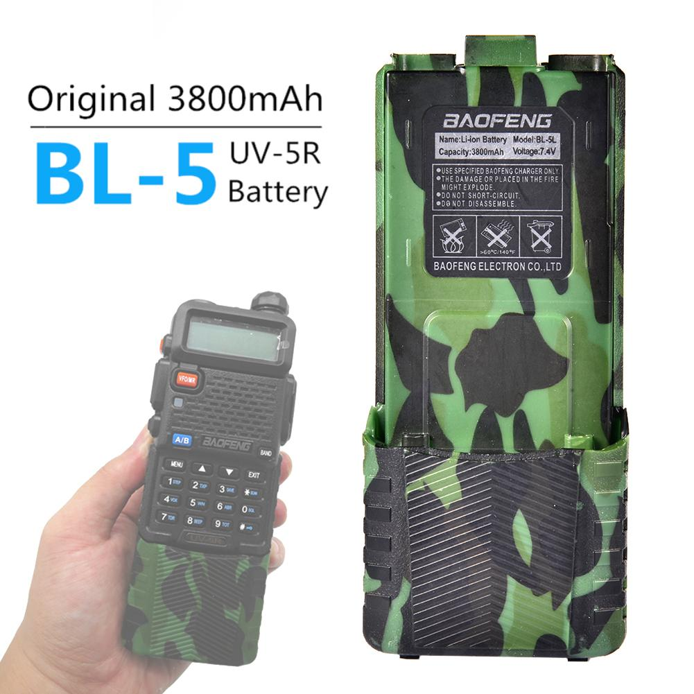 3800mAh Li-ion Battery For Baofeng Walkie Talkie UV-5R Series Two Way Radio Camouflage