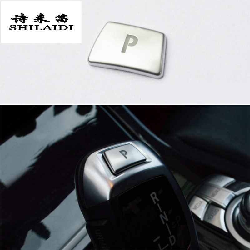 รถจัดแต่งทรงผมสไตล์เกียร์มือจับปุ่มแผงฝาครอบสติ๊กเกอร์สำหรับ BMW 5/6/7 Series F10 GT F07 F01 F02 อุปกรณ์เสริมอัตโนมัติ