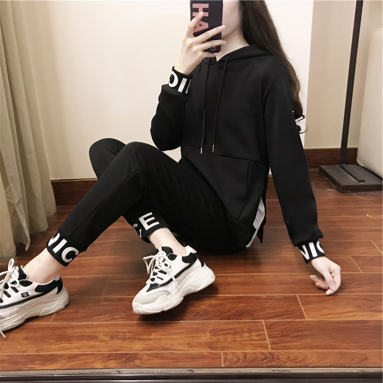 Sports Clothing WOMEN'S Suit 2018 Spring And Autumn New Style Fashion Slimming Long Sleeve WOMEN'S Dress Korean-style Casual Swe