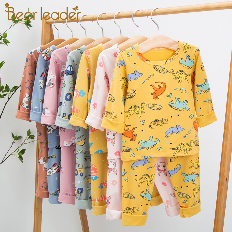 Bear Leader Baby Girls Pajama Sets 2021 New Spring Autumn Kids Casual Outfit Children Cartoon Boys Clothing Fashion Cute Clothes
