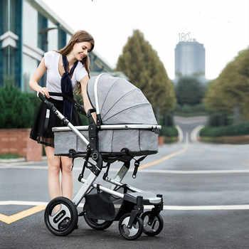 Poussette bébé 3 en 1 avec siège auto landau haut paysage landau pliant landau voiture siège poussettes maman chaude bébé poussette transporteur