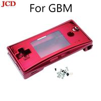 JCD New Metal Housing Shell case for Nintendo for Gameboy Micro front back Cover Faceplate Battery Holder w/ Screw Replacement