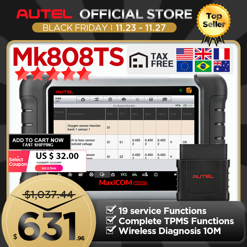 Autel MaxiCOM MK808TS as MK808 add TS601 TPMS Sensor Programming OBD2 Car Diagnostic Tool OBD 2 Scanner Key Coding PK MK808BT|Code Readers & Scan Tools| - AliExpress