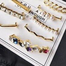 1Pcs Shoelaces Decoration Metal Shoelace Buckle White Pearl