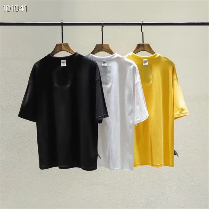 Vetements T-shirt Men Women Summer Spring T-shirts Outside Garment Prohibited Inside VETEMENTS Top Tee High Quality Cotton