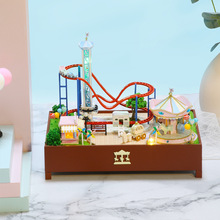 New Building Blocks Mini Doll House Furniture Diy Miniature 3D Miniature Dollhouse Kids Toys for Children Birthday Puzzle Gifts