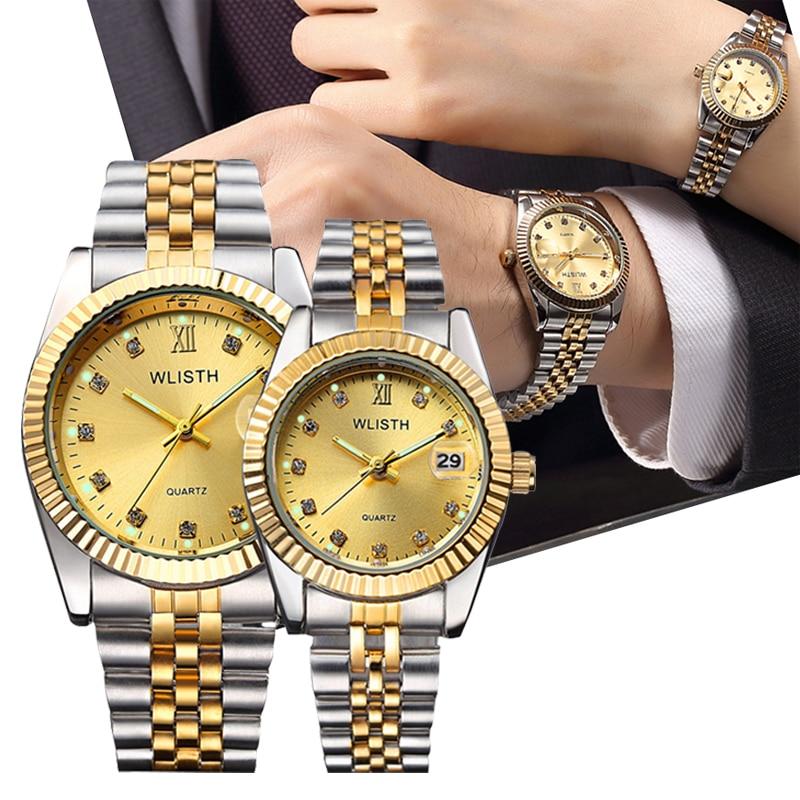 Top Brand Luxury Couple Watches Wife Waterproof Quartz Watch Business Men Women Watch Lovers Gift Girlfriend Clock Reloj Pareja