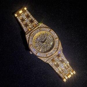 Image 2 - MISSFOX topos relógios femininos de luxo marca ouro bling diamante relógios femininos melhor venda senhoras à prova dwaterproof água relógio com caixa de presente