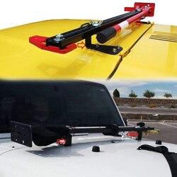 Trwałe samochód praktyczny zamienny łatwa instalacja łopata stalowa uchwyt na kaptur uchwyt wysokiej podnośnik do montażu dla Wrangler K8D6|Bagażniki i boksy dachowe|   -