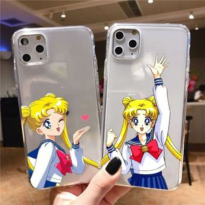 Cartoon Anime Japan Sailor Moon Soft Case for iPhone X 5s 6 6s 7 8 plus Xs XR 11 proMax Phone Cover TPU Silicone Coque for girls(China)