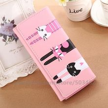 70pcs/lot Fashion Coin Purse Lady Cat Leather  Factory Price Wallet Women Student Cut Style Wholesale Women Wallets
