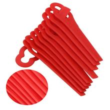 10Pcs/set Plastic Lawn Mower plastic blade Grass Strimmer Trimmer Blade Blades Tool